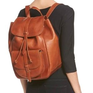 NWT Jcrew Madewell Transport Leather Backpack